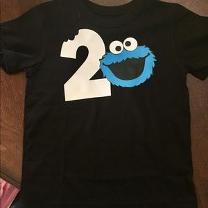 Other - Cookie monster birthday shirt